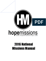 2016national Hope Mission Trips