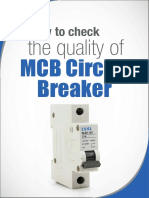 How to Check the Quality of Miniature Circuit Breaker (MCB)