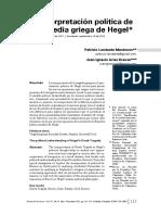 Hegel Tragedia Política