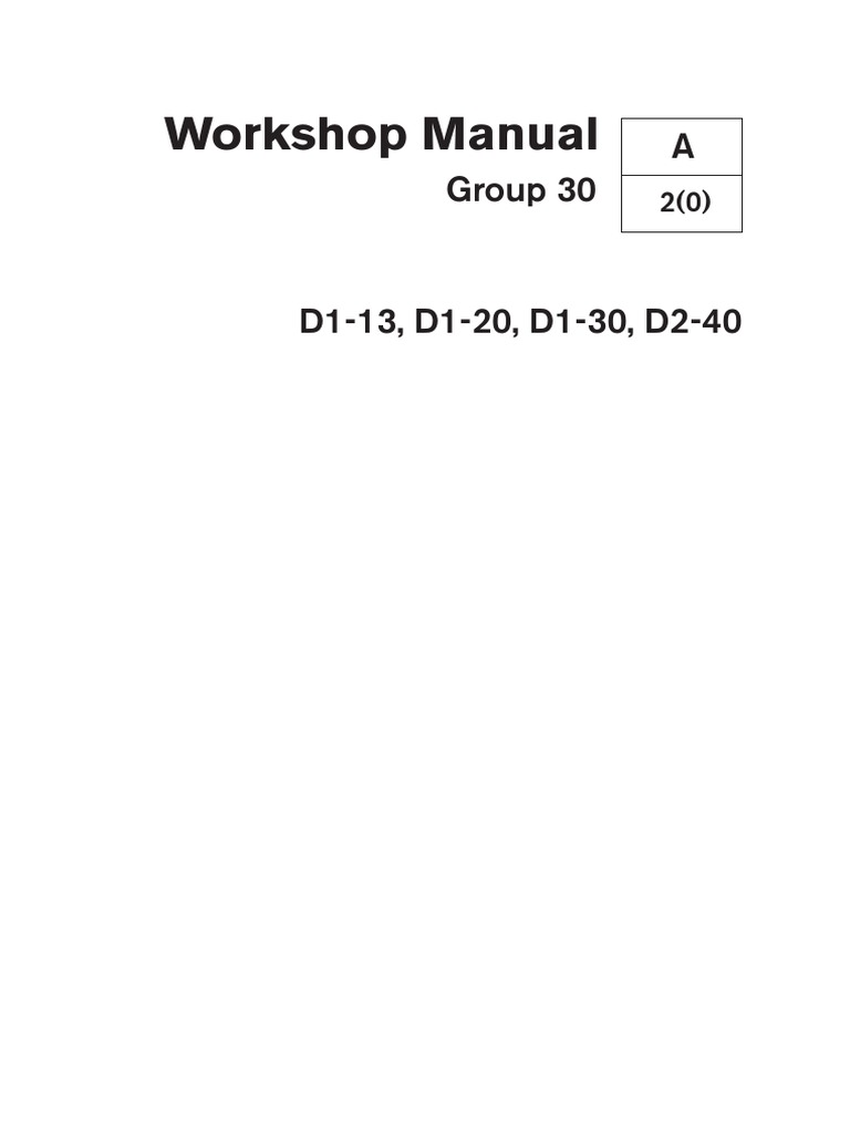 Volvo Penta d1 30b Electrical | Electrical Connector | Switch | Volvo D1 30 Wiring Diagram |  | Scribd