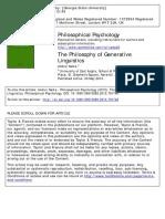 Andrei Nasta - The Philosophy of Generative Linguistics