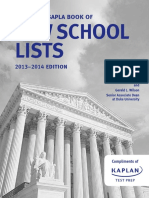 2013 NAPLA SAPLA Book of Law School Lists