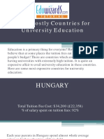 Most Costly Countries for University Education A