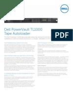 PowerVault TL1000 Tape Autoloader Spec Sheet