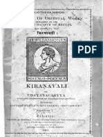 Kiranavali of Udayana with Vardhamana's commentary
