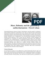 Marx, Bakunin, And the Question of Authoritarianism - David Adam