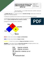 Claificacion Materiales Nfpa Nfpa Rev A