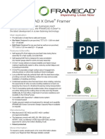 Frame Cad-Self Tapping Screw Spec