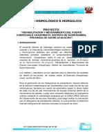 """REHABILITACION Y MEJORAMIENTO DEL PUENTE CARROZABLE CHAUPIMAYO, DISTRITO DE QUEROBAMBA, PROVINCIA DE SUCRE-AYACUCHO""""."""
