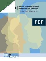 Informe Sobre El Estado Del Voluntariado en El Mundo 2015