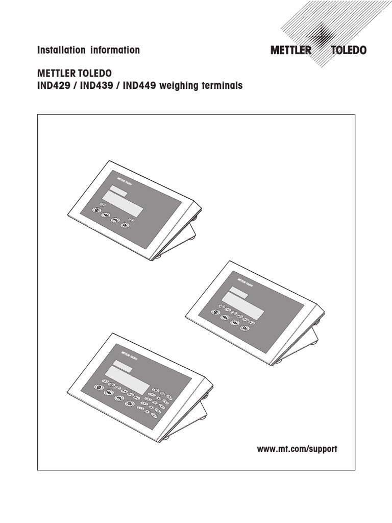 Ind429 439 449 Weighing Terminals Install Guide Electrical Mettler Toledo Wiring Diagram Connector Scale
