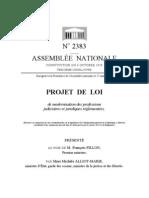 Projet de ModernisatIon Professions Judiciaires & Juridiques Reglementees 2010