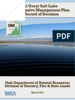 Final Great Salt Lake Comprehensive Management Plan and Record of Decision