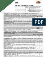 Ficha de Evaluación de Desempeño Docente 2015