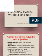Confusion English Words Explained