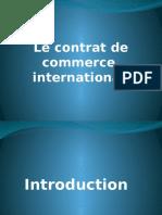 Contrat de commerce international