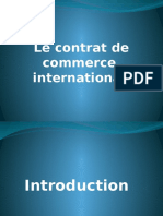 Contrat de commerce international