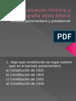 Evaluacrión Parlamentarismo y Presidencialismo