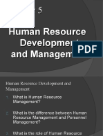 Chapter 5, Human Resource Development and Management