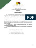 Loi n° 2015-009 portant statut particulier de la commune urbaine de Nosy Be