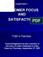 Chapter 7, Customer Focus and Satisfaction