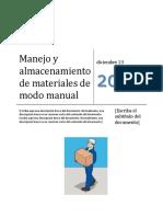 Manejo de Materiales de Modo Manual