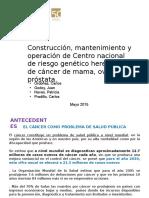 APP Construcción y Operación de Centro Nacional de Riesgo Genético Contra El Cancer