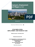 Utah Employers, Employment and Wages by Size