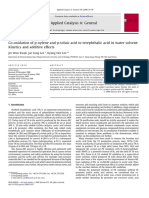 Co-oxidation of P-xylene and P-Toluic Acid to Terephthalic Acid in Water Solvent