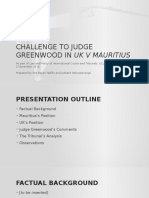 Challenge to Judge Greenwood in Uk v Mauritius