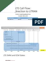 LTE Call Flow - PS Redirection to UTRAN-V2015 0105-V1.0