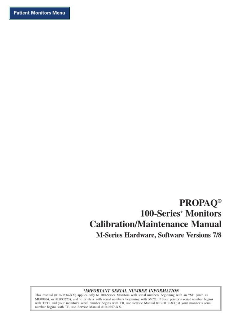 Propaq. Cs vital signs monitor. Service manual pdf.