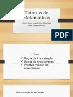 Tutorías de Matemáticas 08 de Febrero Del 2014