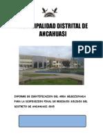 Informe de Identificación Del Área Seleccionada Para Disposición Final Segura de Final