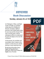 Brotherhood Book Discussion