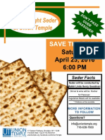 Passover - Save the date!