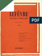 Lefèvre Metodo popolare per Clarinetto