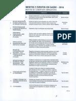 Lista de Procedimentos obrigatórios saúde