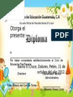 Diploma de Párvulos Para Niñas