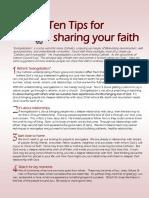 tips  10  for sharingyourfaith