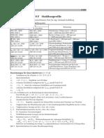 List of Steel Cross Sections (German)