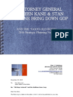 Pennsylvania Attorney General Kathleen Kane & Stan Caterbone Strategic Planning Notes for 2016