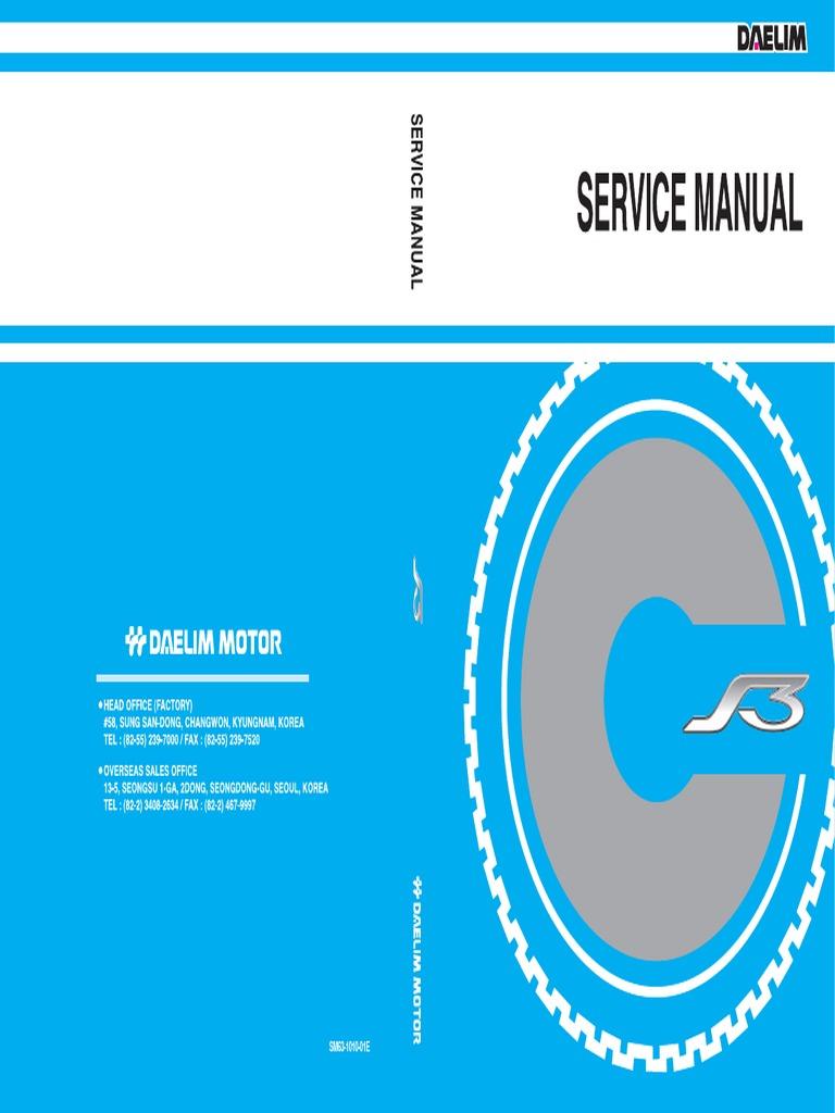 manual mantenimiento daelim ns 125