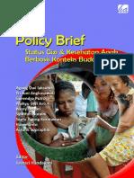 Policy Brief Status Gizi dan Kesehatan Anak Berbasis Konteks Budaya Lokal, Tahun 2015