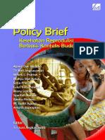 Policy Brief Kesehatan Reproduksi Berbasis Konteks Budaya Lokal, Tahun 2015