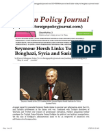 Seymour Hersh Links Turkey to Benghazi, Syria and Sarin | Foreign Policy Journal