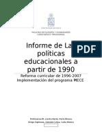 Políticas educacionales en los primeros años de  la concertación