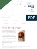 Notas de Yogi Bhajan