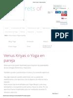 Venus Kriyas o Yoga en Pareja