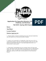 Executive Director Application 2015